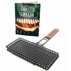 Charcoal Companion Grilled Cheese Grill Basket and Recipe Book