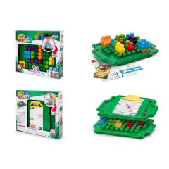 Crayola Kids@Work Building Blocks Work Activity Tray 25Pcs
