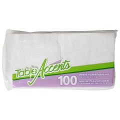 Table Accents White Paper Napkins 100Pk