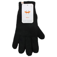 Hot Paws Basics Thinsulate Knit Gloves Black