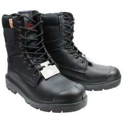 Ground Crew Leather Safety Work Boot Black