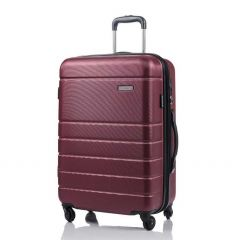 Champs Journey Collection 24in Hard Side Luggage Red