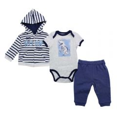 Baby Starters I'm Roar-Some Jacket, Onesie, Jogger 3 Piece Set
