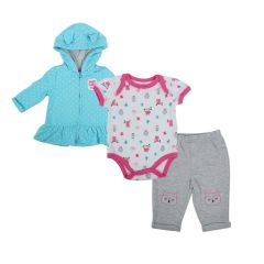 Baby Mode Jacket, Onesie, Jogger 3 Piece Set
