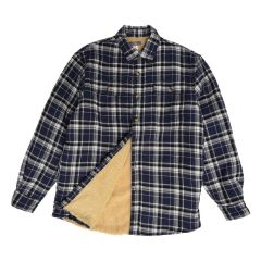 Men's Sherpa Lined Quilted Flannel Shirt