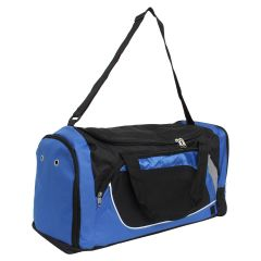 Duffle Bag Black & Royal Blue