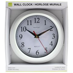 Kiera Grace White Round Wall Clock 8in