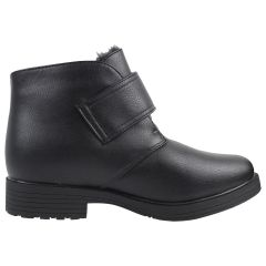 Canada Comfort Velcro Winter Boot with Grip Black