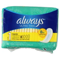 Always Ultra Thin No Wings 22 Pack
