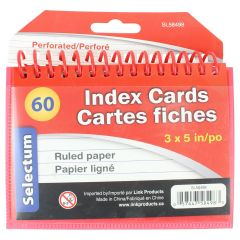 Selectum Coil Bound Index Cards 3x5 Coil 60S