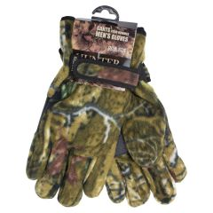 Men's Hunter Polar Fleece Gloves Camouflage