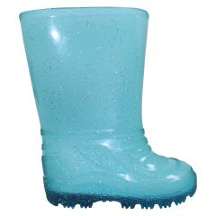 Sparkly Rubber Rain Boot Blue
