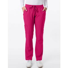 Green Town 4 Flex Collection Scrub Pant Raspberry