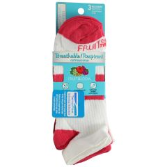 Fruit of the Loom Women's Breathable Cotton No Show Socks 3 Pack