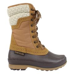 Arctic Ridge Lace Up Sweater Collar Winter Boots Tan