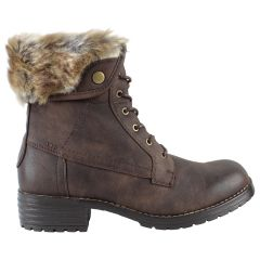 The Edge Casual Lace Up Boot Brown