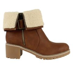 Stefania Italy Sherpa Lined Ankle Boots