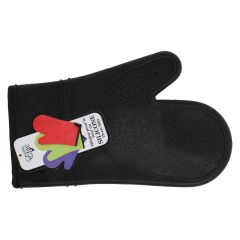 Chef Elite Silicone Oven Mitts Black
