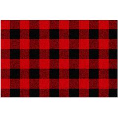 Buffalo Plaid Place Mat Black & Red