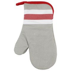 Color Your Home Oven Mitts Grey & Red