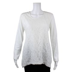 Paradisio Authentiques Lace Front Long Sleeve T-Shirt