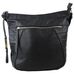 KG&B Hobo Cross Body Bag Black