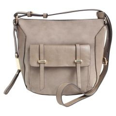 KG&B Satchel Detail Crossbody Bag Taupe