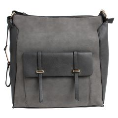 KG&B Square Satchel Purse Grey