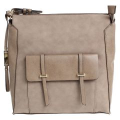 KG&B Square Satchel Purse Taupe