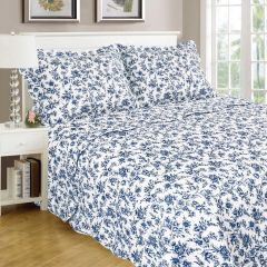 Home Essentials 3Pc Printed Quilt Set Queen