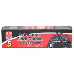 Tuff Guy Extra Large Outdoor Bags Black 31 X 42 in.