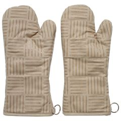 Fresh Ingredients Oven Mitts With Silicone Grip Khaki