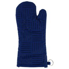 Fresh Ingredients Oven Mitts With Silicone Grip Blue