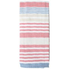 Fresh Ingredients Striped Kitchen Towel Red