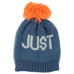 Densley & Co. Knit Text Pom Pom Toque