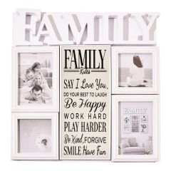 Family Rules Collage Photo Frame