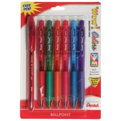Pentel Wow Colors Ballpoint Pens 7Pk