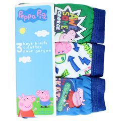 Peppa Pig Boys Briefs 3Pk Size 2-6X