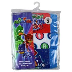 PJ Masks Boys Briefs 3Pk Size 2-6X