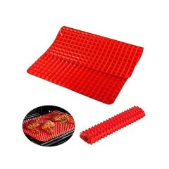 Pyramid Pan Fat-Reducing Silicone Cooking Mat
