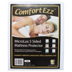 ComfortEzz Microlux 5 Sided Mattress Protector Twin
