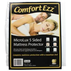 ComfortEzz Microlux 5 Sided Mattress Protector Double