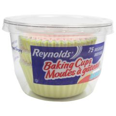 Reynolds Rainbow Baking Cups Medium 75Pk