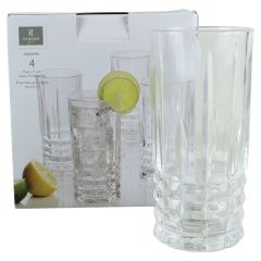 Gibson Home Jewelite Glass Hi-ball Tumbler 11 oz 4 Set