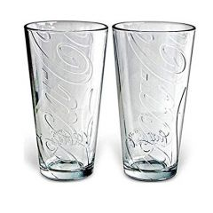 Coca Cola Pub Glass Tumbler 20oz Set of 2