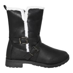 Sherpa Trim Motorcycle Buckle Boot