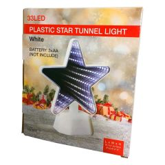 Plastic Star Tunnel White Light 33 LED