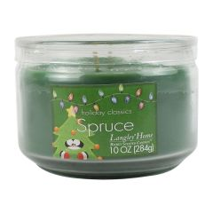 Holiday Classics Spruce Richly Scented Glass Candle Jar 10 oz