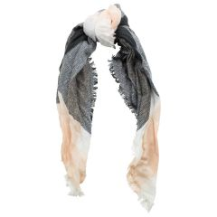 BB Collection Plaid Scarf Black/Peach