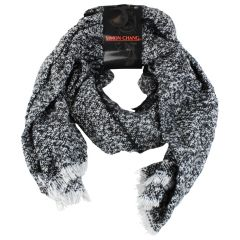 Simon Chang Marle Scarf Black & White
